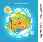 around the world color card... | Shutterstock .eps vector #796363609