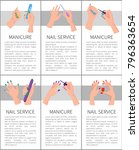 set of manicure and nail... | Shutterstock .eps vector #796363654
