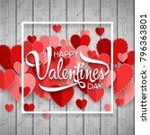 happy valentine's day background | Shutterstock .eps vector #796363801