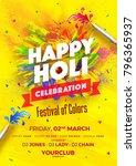 indian festival of colours ... | Shutterstock .eps vector #796365937