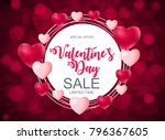 valentine's day heart  love and ... | Shutterstock .eps vector #796367605