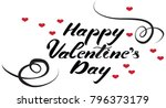happy valentines day lettering... | Shutterstock .eps vector #796373179