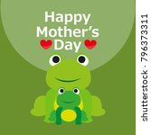 happy mother's day greeting... | Shutterstock .eps vector #796373311