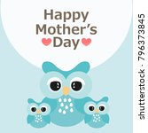happy mother's day greeting... | Shutterstock .eps vector #796373845