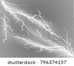 a set of lightning magic and... | Shutterstock .eps vector #796374157