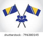 bosnia emblem people | Shutterstock .eps vector #796380145