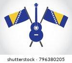 bosnia emblem guitar | Shutterstock .eps vector #796380205