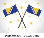 bosnia emblem tropical weather | Shutterstock .eps vector #796380289