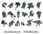 superhero actions set in comics ... | Shutterstock .eps vector #796382281