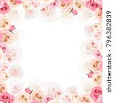 vector frame with pink and... | Shutterstock .eps vector #796382839