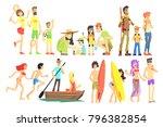 people in summer set | Shutterstock .eps vector #796382854