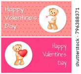 happy valentines day set of... | Shutterstock .eps vector #796388371