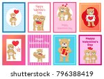 i love you and me teddy bears... | Shutterstock .eps vector #796388419