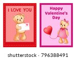 i love you and me teddy bears... | Shutterstock .eps vector #796388491
