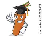 graduation tamarind character...   Shutterstock .eps vector #796388971
