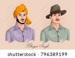 freedom fighter and national... | Shutterstock .eps vector #796389199