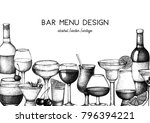 vector design with hand drawn...   Shutterstock .eps vector #796394221