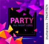 vector faceted party poster ... | Shutterstock .eps vector #796397074
