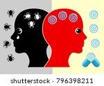 panic disorder medication.... | Shutterstock . vector #796398211