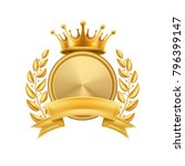 gold crown laurel wreath winner ... | Shutterstock .eps vector #796399147