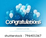 congratulations greeting card... | Shutterstock .eps vector #796401367