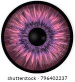 Demonic Eye Iris. Pink Eye...