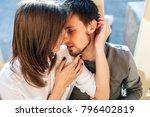 sensual couple in love summer... | Shutterstock . vector #796402819