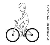 man riding bicycle avatar... | Shutterstock .eps vector #796405141