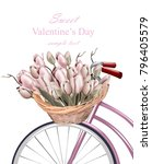Sweet Valentine Day Card With...