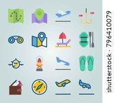 icon set about beach and... | Shutterstock .eps vector #796410079