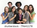 happy smiling multi ethnic group   Shutterstock . vector #79641178