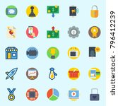 icons set about digital... | Shutterstock .eps vector #796412239