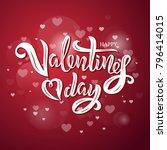 valentine s day text design...   Shutterstock .eps vector #796414015