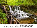 Waterfall River In Deep Forest...