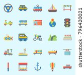 icons set about transportation. ... | Shutterstock .eps vector #796420021