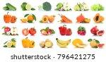 fruit fruits and vegetables...   Shutterstock . vector #796421275