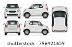 Compact Car Vector Mock Up For...