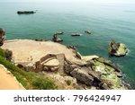 view of ancient phoenician port ... | Shutterstock . vector #796424947