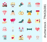 icons set about wedding. with... | Shutterstock .eps vector #796426381