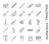 musical instruments linear... | Shutterstock .eps vector #796427905