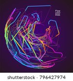 moving colorful lines of... | Shutterstock .eps vector #796427974