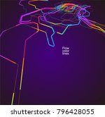 moving colorful lines of... | Shutterstock .eps vector #796428055