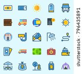 icons set about travel. with... | Shutterstock .eps vector #796435891