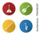 musical instruments flat design ... | Shutterstock .eps vector #796436329