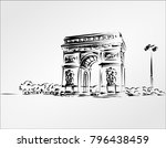 arc de triomphe is one of the... | Shutterstock .eps vector #796438459