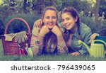 smiling young germany woman and ... | Shutterstock . vector #796439065