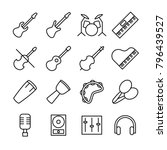 linear icon set related of...