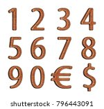 numbering. set of numbers made... | Shutterstock . vector #796443091