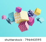3d colorful decorative cubes | Shutterstock .eps vector #796443595