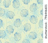 vector seamless pattern with... | Shutterstock .eps vector #796446601
